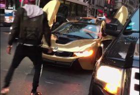 bmw, bmw i8, vicces, videó, zöld autó