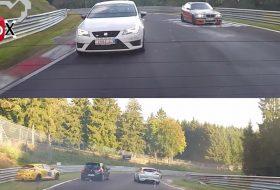 autóbaleset, csúszásveszély, nürburgring, renault megane, videó, zöld pokol