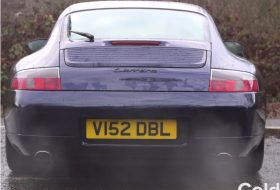 996, kipufogó, porsche 911, tuning, videó