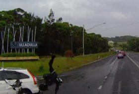 ausztrália, baleset, motoros, videó