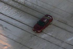 autós videó, ford mustang, hó, jég