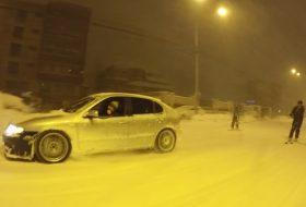 hó, jég, románia, seat leon, téli autózás, téli vezetés, videó, volkswagen golf
