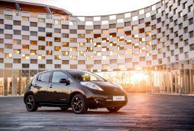 a nap képe, elektromos autózás, leaf black edition, limitált kiadás, új nissan, zöld autó