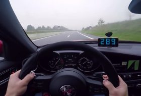 alfa giulia, autobahn, giulia qv, gyorshajtás, új alfa romeo, videó