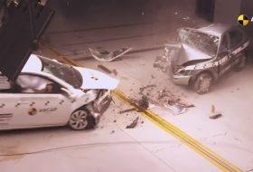 autóbaleset, euro ncap, légzsák, törésteszt, videó