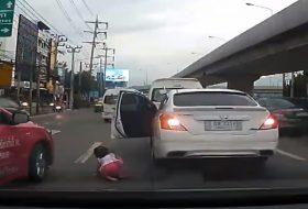 autóbaleset, gyerek, videó