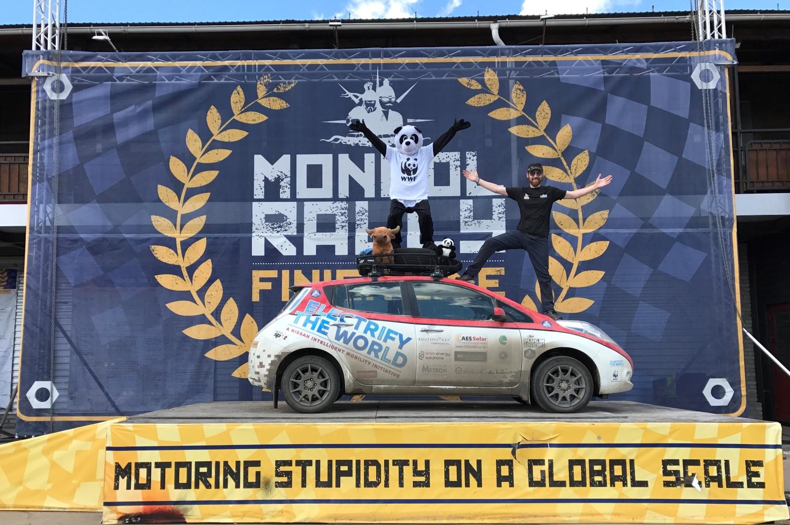 Nissan Leaf teljesítette a Mongol Rally-t