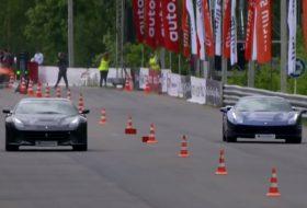 488 gtb, f12 berlinetta, ferrari, gyorsulási verseny, videó