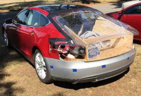 a nap képe, amerika, autójavítás, elektromos autó, tesla model s