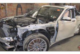autóbaleset, autójavítás, autós videó, bmw 7-es, luxusautó