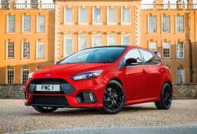 focus rs, ford, red edition