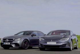 autós videó, e63 amg, elektromos autó, gyorsulási verseny, mercedes-amg, p100d, tesla model s, top gear