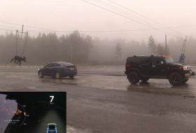 autós videó, hummer h2, kötélhúzás, tesla model x, verseny