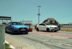 a45 amg, audi rs3, autós videó, gyorsulási verseny, mercedes-amg