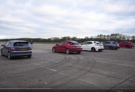 autós videó, civic type r, gyorsulási verseny, honda civic