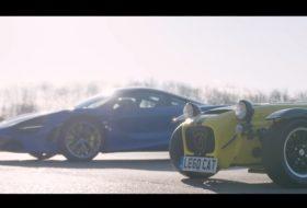 620r, 720s, autós videó, caterham, gyorsulási verseny, új mclaren