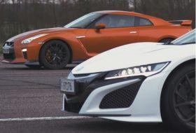 autós videó, carwow, gyorsulási verseny, honda nsx, japán, nissan gt-r