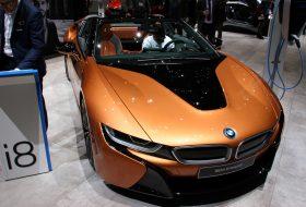 a nap képe, bmw i8, genfi autószalon, hibrid, i8 roadster, új bmw, zöld autó