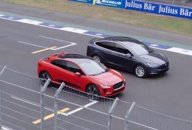 autós videó, gyorsulási verseny, jaguar i-pace, tesla model x, új jaguar, új tesla