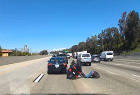 amerika, autópálya, baleset, kamion, motoros, videó