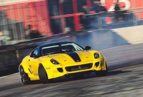 599, autós videó, drift, ferrari