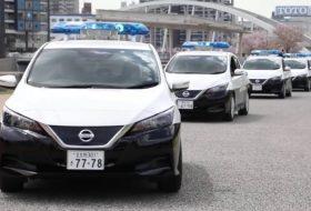 autós videó, elektromos autó, rendőrautó, új leaf, új nissan, zöld autó