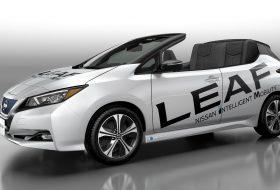 a nap képe, egyedi autó, elektromos autó, kabrió, nissan leaf, vicces, zöld autó