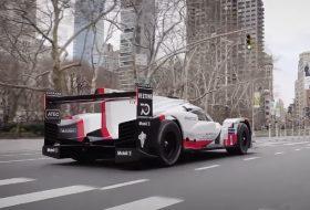 919 hybrid, autós videó, hibrid, le mans, new york, új porsche, versenyautó