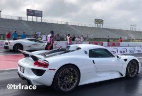 918 spyder, full hibrid, gyorsulási verseny, laferrari, új porsche