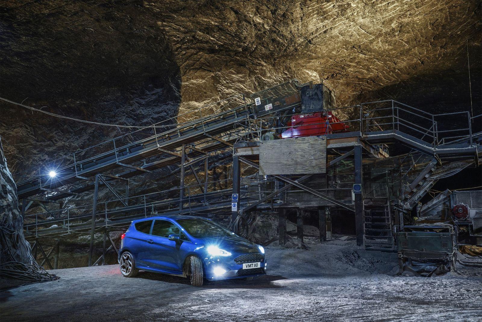 Ford Fiesta ST a sóbányában