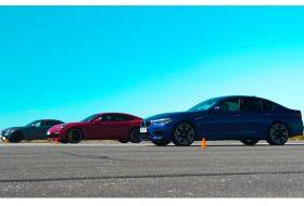bmw m5, e63 amg, gyorsulási verseny, hibrid, mercedes-amg, porsche panamera