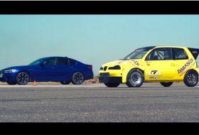autocar, autós videó, bmw m5, gyorsulási verseny, seat arosa, vicces
