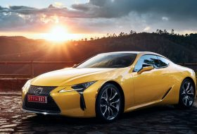 lexus, lexus lc, yellow edition