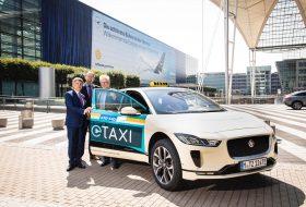 elektromos, i-pace, jaguar, környezetbarát, münchen, taxi