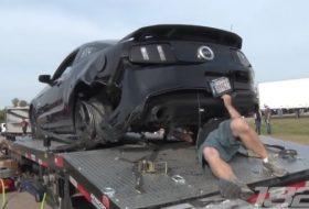 autós videó, baleset, defekt, ford mustang, tuning