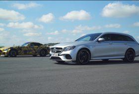 amg gt r, autós videó, carwow, e63 amg, gyorsulási verseny, mercedes-benz