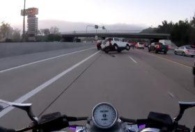 amerika, autós videó, baleset, motoros, pov video