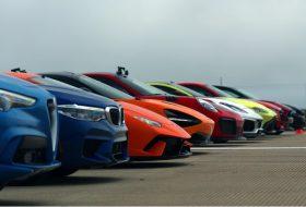 720s, 911 gt2 rs, autós videó, bmw m5, civic type r, gyorsulási verseny, huracan performante, stelvio quadrifoglio, új aston martin, új dodge, új ford mustang