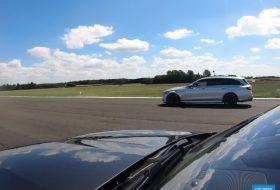 autós videó, carwow, drag, e63 amg, f-type svr, gyorsulási verseny, jaguar, mercedes-amg