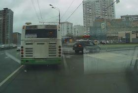 autóbaleset, autóbusz, mercedes-benz, oroszország, pov video