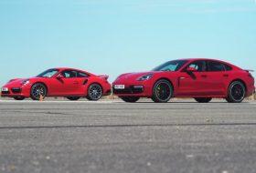 911 turbo s, autós videó, e-hybrid, gyorshajtás, gyorsulási verseny, panamera turbo, új porsche
