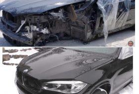 autójavítás, autós videó, bmw x5, gazdasági totálkár, oroszország