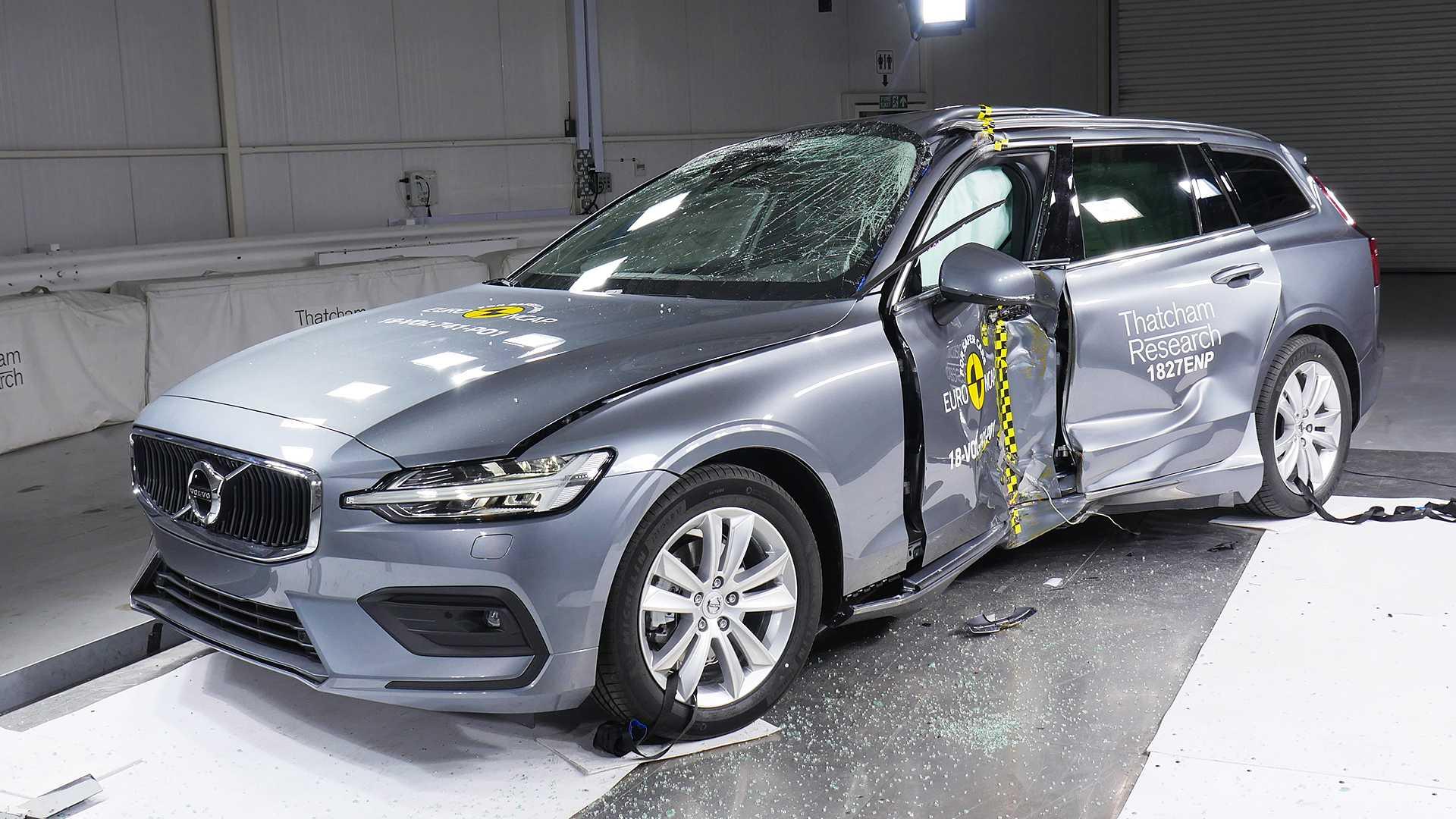 Audi Q3, Jaguar I-PACE, Peugeot 508, Volvo V60/S60, BMW X5, Hyundai Santa Fe, Jeep Wrangler, Fiat Panda 2018 Euro NCAP