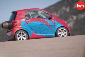 amerika, autós videó, gyorsulás, ritkaság, smart fortwo, sugárhajtómű