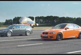 audi rs4 avant, autós videó, bmw m3, carwow, gyorsulási verseny, m3 gts