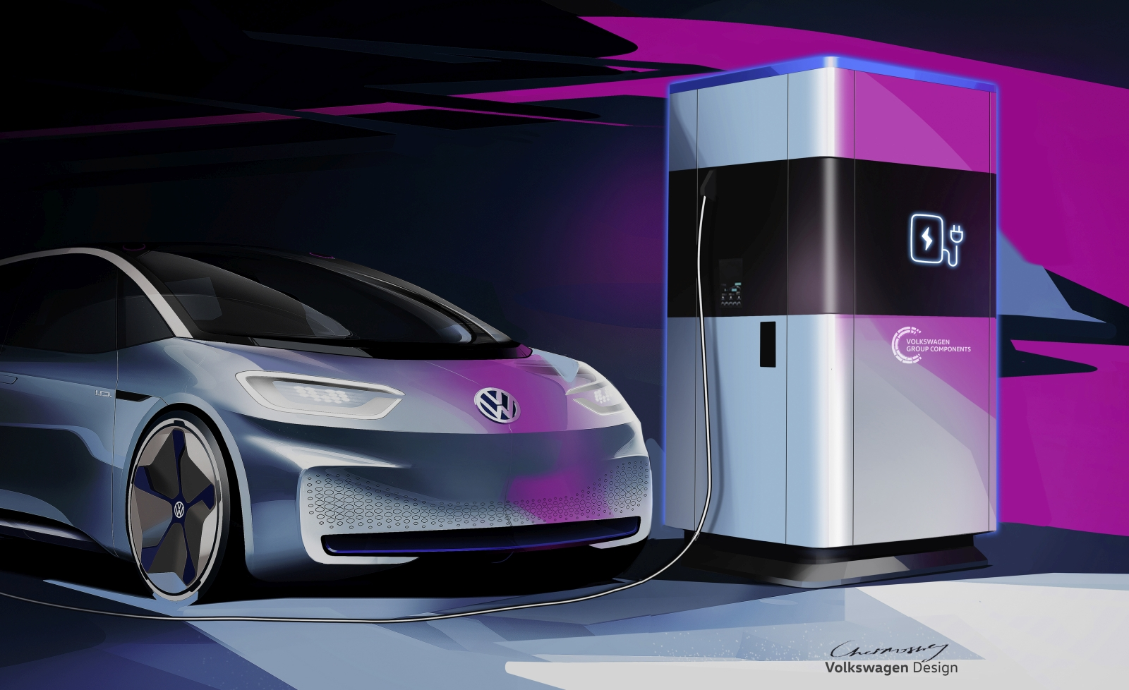 Power bank for electric cars – the mobile quick charging stati