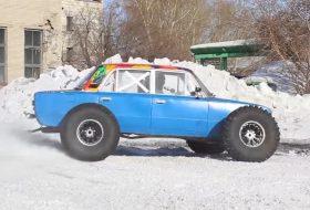 2106, autós videó, bigfoot, drift, hó, lada, oroszország, vicces, zsiguli