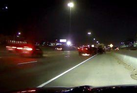 amerika, autóbaleset, autópálya, kamion, pov video