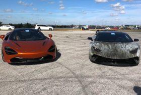 autós videó, dragtimes, gyorsulási verseny, huracan performante, mclaren 720s, új lamborghini