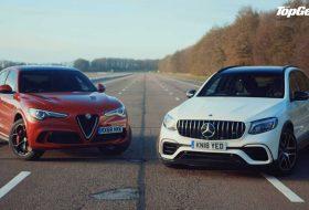 autós videó, glc 63 s, gyorsulási verseny, mercedes-amg, stelvio quadrifoglio, top gear, új alfa romeo